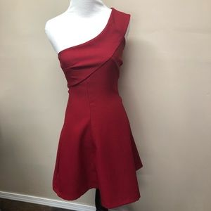 Charlotte Russe One Shoulder Red Formal Dress